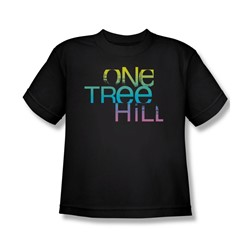 One Tree Hill - Big Boys Color Blend Logo T-Shirt In Black