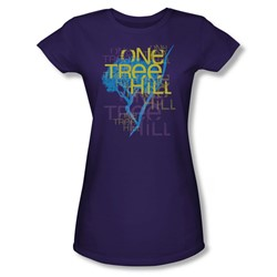 One Tree Hill - Womens Title T-Shirt In Purple