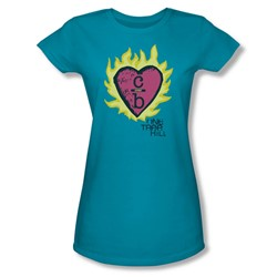 One Tree Hill - Womens C Over B 2 T-Shirt In Turquoise