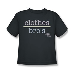 One Tree Hill - Little Boys Clothes Over Bros 2 T-Shirt In Charcoal
