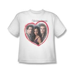 Vampire Diaries - Big Boys Girls Choice T-Shirt In White