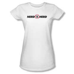 Chuck - Womens Nerd Herd T-Shirt In White