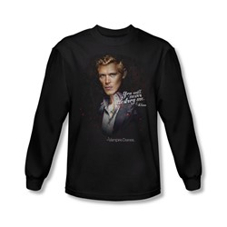 Vampire Diaries - Mens Never Destroy Long Sleeve Shirt In Black