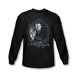 Vampire Diaries - Mens Originals Long Sleeve Shirt In Black