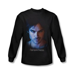 Vampire Diaries - Mens Damon Long Sleeve Shirt In Black