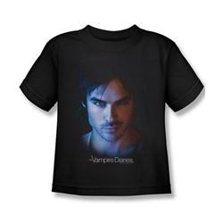 Vampire Diaries - Little Boys Damon T-Shirt In Black