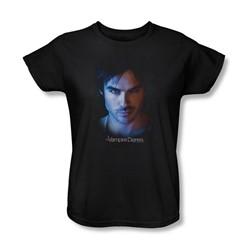 Vampire Diaries - Womens Damon T-Shirt In Black