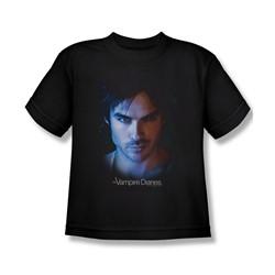 Vampire Diaries - Big Boys Damon T-Shirt In Black