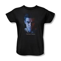 Vampire Diaries - Womens Stefan T-Shirt In Black
