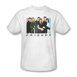 Friends - Mens Cast Logo T-Shirt In White