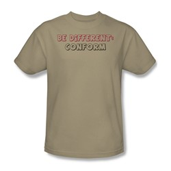 Be Different - Adult Sand S/S T-Shirt For Men