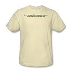 Laws Like Sausages - Adult Cream S/S T-Shirt For Men