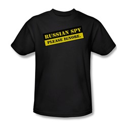 Russian Spy - Black Adult S/S T-Shirt For Men