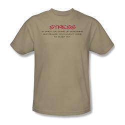 Stress - Adult Sand S/S T-Shirt For Men