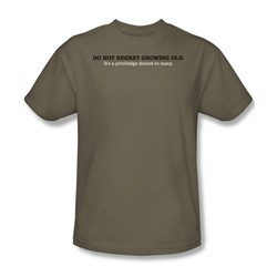 Regret Growing Old - Adult Khaki S/S T-Shirt For Men