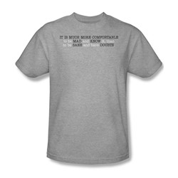 Mad And Know It - Adult Ath. Heather S/S T-Shirt For Men