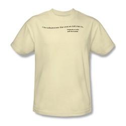 Voices Tell Me - Adult Cream S/S T-Shirt For Men