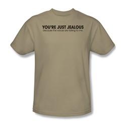 Voices Talking - Adult Sand S/S T-Shirt For Men
