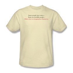 No Imagination - Adult Cream S/S T-Shirt For Men