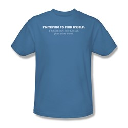 Trying To Find Myself - Adult Carolina Blue S/S T-Shirt For Men
