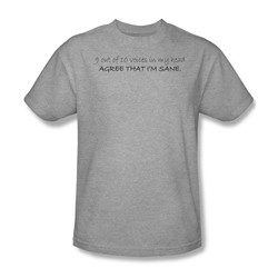 9 Out Of 10 Voices - Adult Ath. Heather S/S T-Shirt For Men