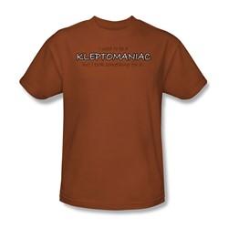 Kleptomaniac - Adult Texas Orange S/S T-Shirt For Men