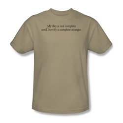 Terrify A Stranger - Adult Sand S/S T-Shirt For Men