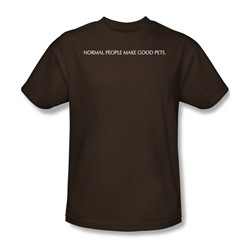 Good Pets - Adult Coffee S/S T-Shirt For Men