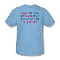 Eagles May Soar - Adult Light Blue S/S T-Shirt For Men