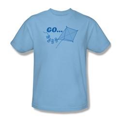 Go Fly A Kite - Adult Light Blue S/S T-Shirt For Men