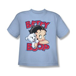 Betty Boop - Forever Friends - Big Boys Light Blue S/S T-Shirt For Boys