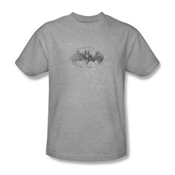 438bbfbd Batman - Burned & Splattered - Adult Heather S/S T-Shirt For Men