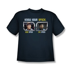 St:Original - Know Your Spock - Big Boys Navy S/S T-Shirt For Boys
