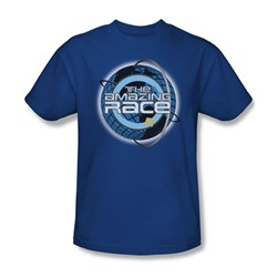 Amazing Race - Around The Globe - Adult Royal Blue S/S T-Shirt For Boys