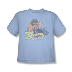 Brady Bunch - Groovy Greg - Big Boys Lt Blue S/S T-Shirt For Boys
