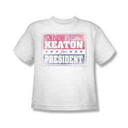 Family Ties - Alex For President - Big Boys White S/S T-Shirt For Boys