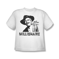 Beverly Hillbillies - Millionaire - Big Boys White S/S T-Shirt For Boys
