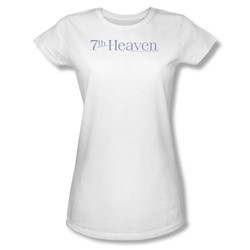 7Th Heaven - 7Th Heaven Logo - Juniors White S/S T-Shirt For Women
