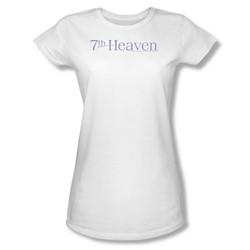 7Th Heaven - 7Th Heaven Logo - Juniors White S/S T-Shirt For Women