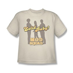 Mod Squad - Solid Mod - Big Boys Cream S/S T-Shirt For Boys