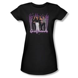 Girlfriends - Girlfriends - Juniors Black S/S T-Shirt For Women