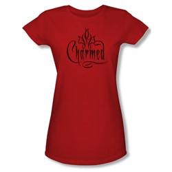 Charmed - Charmed Logo - Juniors Red S/S T-Shirt For Women