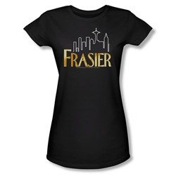 Frasier - Frasier Logo - Jr Black Sheer Cap Sleeve T-Shirt For Women