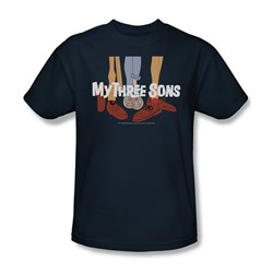 My Three Sons/Shoes Logo - Adult Navy S/S T-Shirt For Men