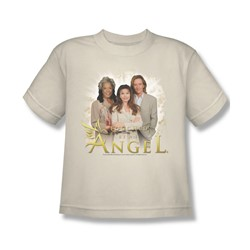 Touched By An Angel - An Angel - Big Boys Cream S/S T-Shirt For Boys