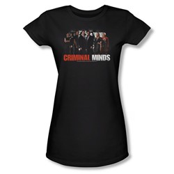 Criminal Minds - The Brain Trust - Juniors Black S/S T-Shirt For Women