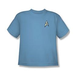 Star Trek - Science Uniform - Big Boys Carolina Blue S/S T-Shirt For Boys