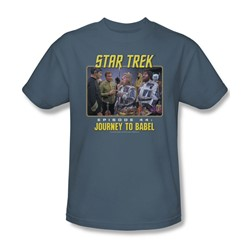 St:Original - Journey To Babel - Adult Slate T-Shirt For Men