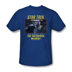 St:Original - The Enterprise Incident - Adult Royal T-Shirt For Men