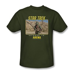 St:Original - Arena - Adult Military Green S/S T-Shirt For Men
